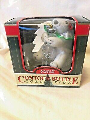 Polar Bear Ornament (1999 Coca Cola Contour Bottle Collection Ornament Polar Bear Holding)