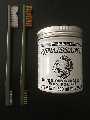 Coins and Relics Cleaning Kit - 7 oz Renaissance Wax and TWO Brushes> Must Have!
