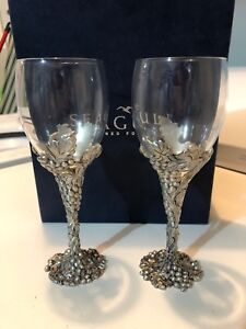 Seagull Pewter wine goblets