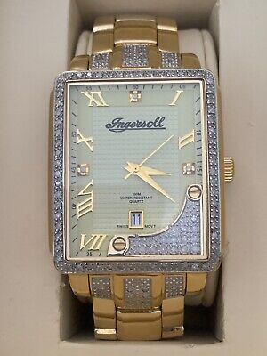 ingersoll 18 carat gold plated DIAMOND mens watch IG0499LIMITED EDITION 111/125