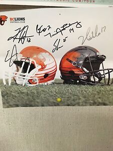 Signed BC Lions picture from season ticket holder day