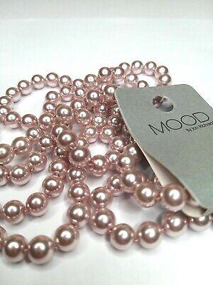 Pink Faux Pearl Long Necklace MOOD by Jon Richard