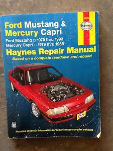 Mustang haynes repair manual