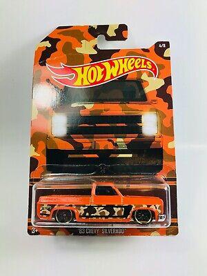 Hot Wheels '83 Chevy Silverado Pickup Orange 1:64 Diecast