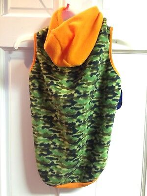 Large Breed Dog Costumes (NWT SIZE XL GREEN & ORANGE HOODED CAMO HOODY FOR LARGE BREED)