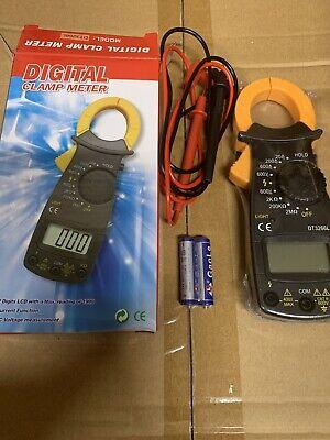 Digital Clamp Meter Multimeter Ac Dc Voltmeter Auto Range Volt Ohm Amp Brand New