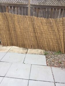 2 large rolls privacy bamboo fencing