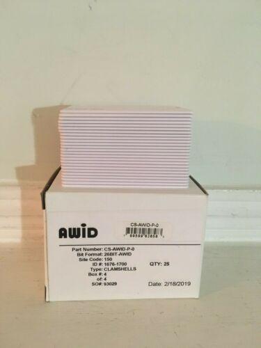 Awid CS-AWID-P-0 Proximity Cards (Pack of 25)