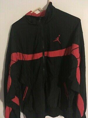 Rare Vintage Nike Air Jordan Flight Windbreaker Jacket Black Red