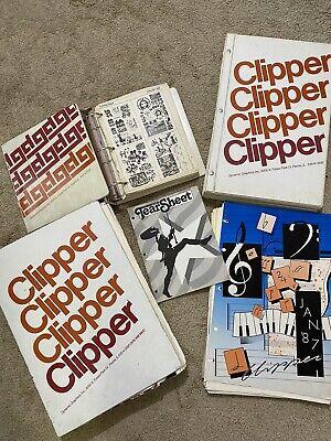 Lot Of 2 Vintage Clipper Clip Art Books Dynamic  Graphics Design Images 1980's
