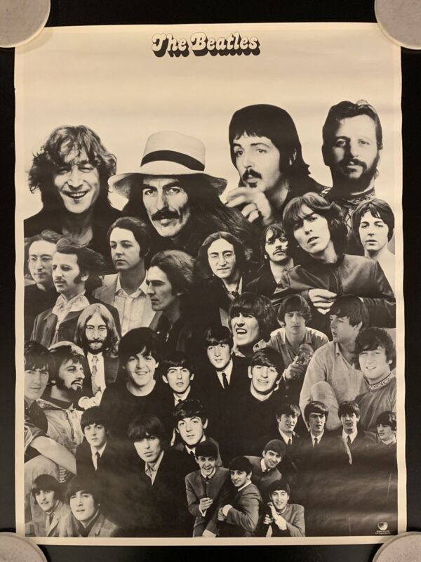 Vintage Original 1973 The Beatles Apple Records Greatest Hits Promotional Poster