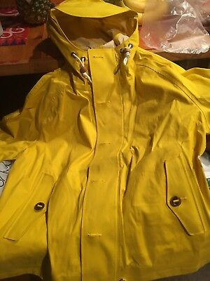 NWT Polo Ralph Lauren Hooded Rain Coat Yellow Men Size L