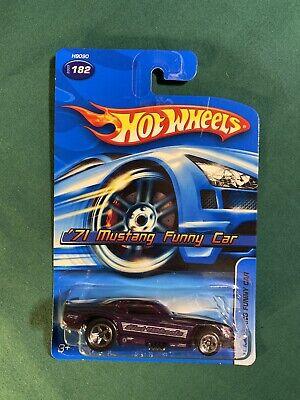 2005 Hot Wheels '71 Mustang Funny Car #182 Purple w/ Purple Windows