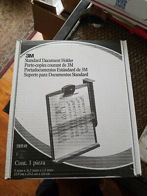 3m Standard Monitor Mount Document Holder Dh540 New