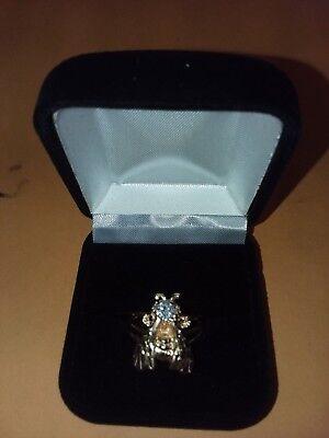 Handmade 14kt Designer 1/2ctw Diamond Bee Ring