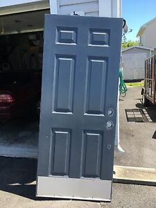 34 inch steel slab door