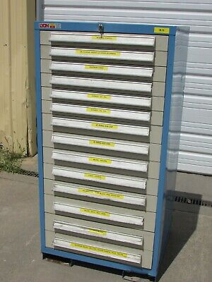 Lyon 14-drawer Tool Cabinet 3 4 5 Deep Drawers 59.5 X 30 X 27.5