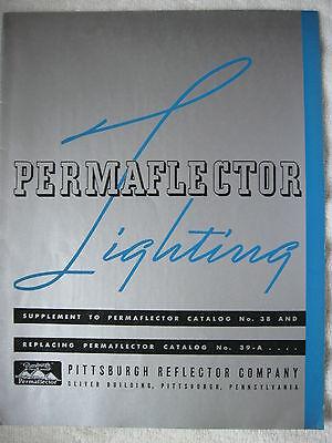 1940s-50s PERMAFLECTOR LIGHTING SUPPLEMENTAL CATALOG TO NO. 38