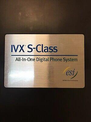 Esi Ivx S-class Digital Phone System 2 Cards 14 Phones