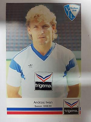 AK o.Orig.AG Andrzej Iwan Fußball VFL Bochum Saison 88/89 Rarität!
