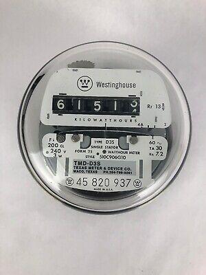 Electric Watt Hour Meter Westinghouse Type D3s Gauge Steampunk Decor Fstshp