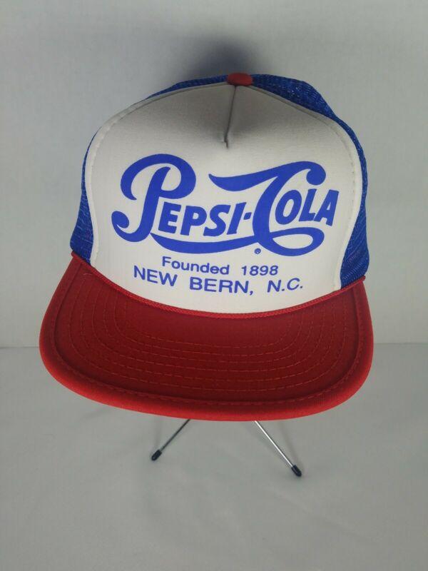 Vintage 1980s PEPSI COLA MIDLAND, NC SNAPBACK TRucker's Hat Otto