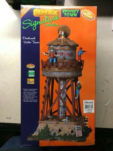 "LEMAX SPOOKY TOWN "" DEADWOOD WATER TOWER "" # 84765 RETIRED HALLOWEEN"