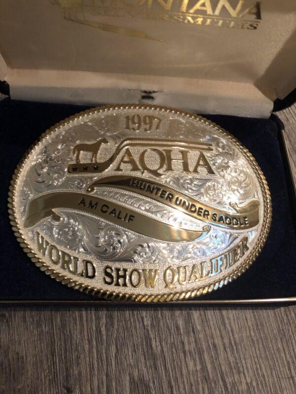 Montana Silversmiths 1997 World Show Qualifier AQHA Buckle Hunter Under Saddle