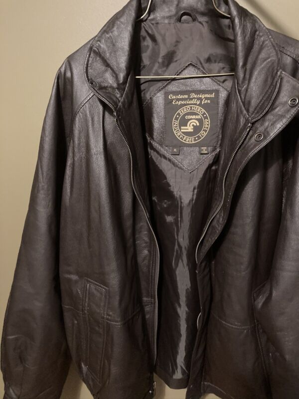 NORFOLK SOUTHERN RAILROAD LEATHER JACKET RARE Never Worn