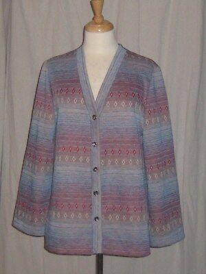 Vintage 1970s Sweater Jacket Southwestern Native Hippy Boho NPC Fashions Large