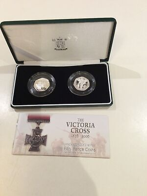 2006 Royal Mint UK The Victoria Cross Silver Proof 50p Set