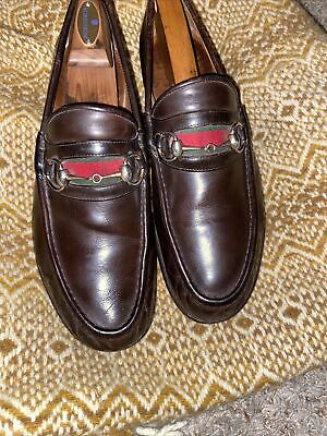 Vtg Gucci Horsebit Loafer Brown Italy Shoes MEN'S SZ 9 D