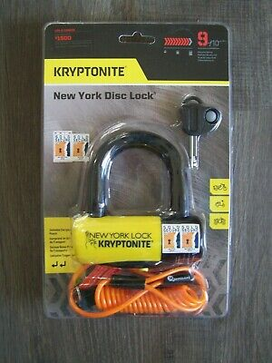 "Kryptonite ls//mc  New York 4/"" x 10.25/"" level grade  9  16 mm bar"