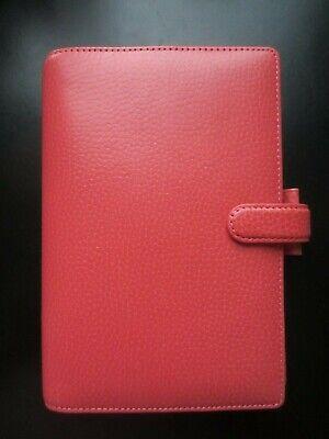 Filofax Personal Organizer Finsbury Leather Coral 5 X 7.5