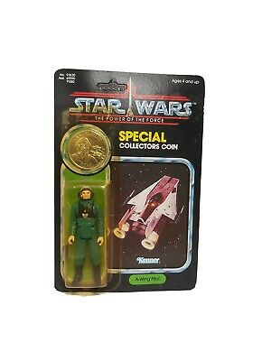 Star Wars Vintage Last 17 A Wing Pilot Moc/Carded Figure POTF 92 Back