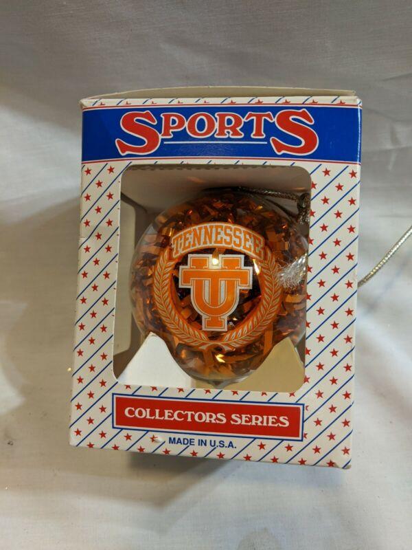 UT Tennessee Volunteers NCAA Collectors Series Glass Christmas Ornament