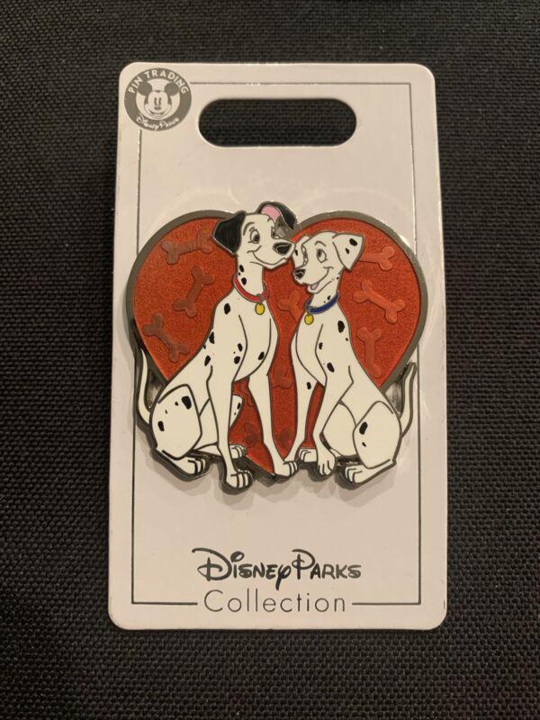 Disney Pin: 2020 101 Dalmatians Pongo And Perdita Heart Pin