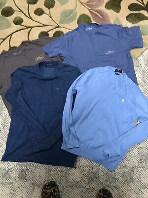 Lot of 3 T-shirts 1 sweater Vineyard Vines Polo Abercrombie & Drake