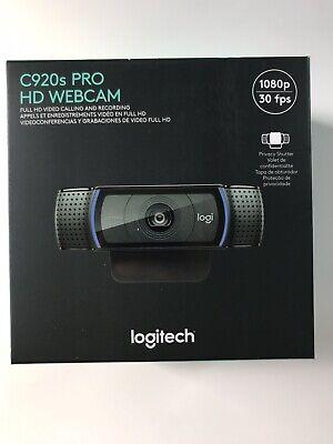 Logitech C920s Pro HD 1080p Webcam w/ Privacy Shutter FAST FREE SHIPPING