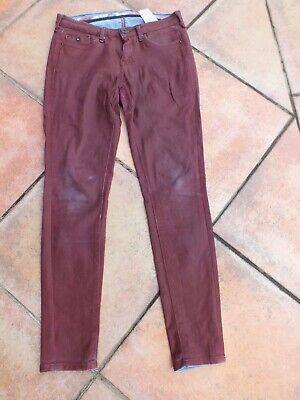 Pepe Jeans Gr. 28/30 rot wie Leder , Jeggings , coatet