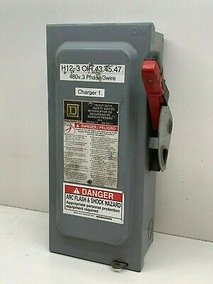 Square D H361 30-amp 600vac Heavy Duty Fusible Safety Switch Indoor 30a 600v