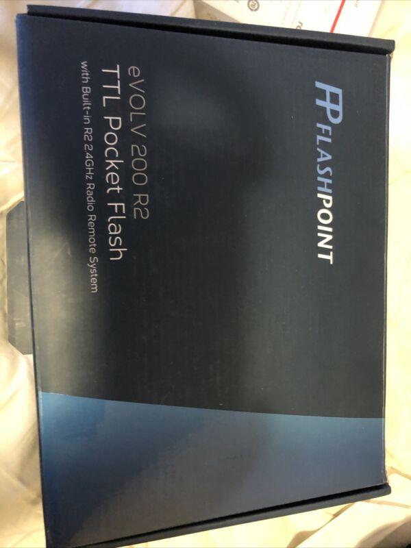 BNIB Flashpoint eVOLV 200 R2 TTL Pocket Flash with Barndoor Kit (Godox AD200)