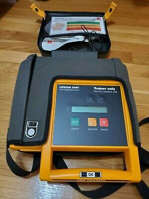Physio Medtronic Lifepak 500t Training Aed System - Battery Case Remote Pads