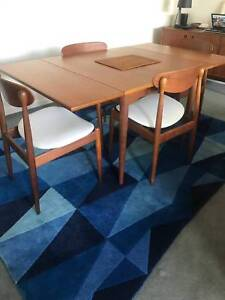 Parker mid-century modern dining table and chairs