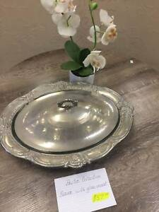 Pewter collection - Server with glass insert Stafford Brisbane North West Preview