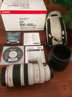 Canon EF 100-400mm f/4.5-5.6 L IS USM i lens excellent condition