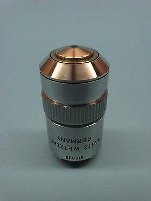 Leitz Wetzlar Fluotar Npl 50x Oil Microscope Objective