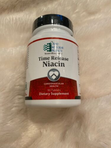 Ortho Molecular TIME RELEASE NIACIN 90 Tablets | Exp 07.21 Sealed W/ Fast Ship!