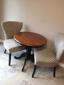 Pier 1 Keeran bistro kitchen table with 2 Horchow chairs