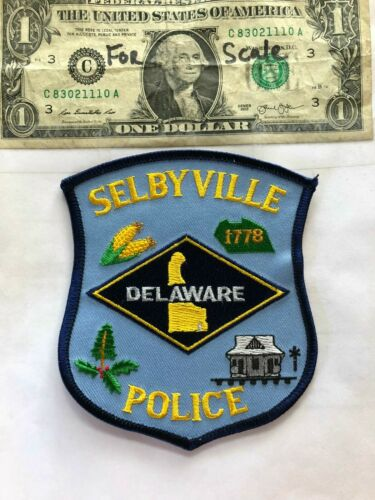 Selbyville Delaware Police Patch Un-sewn in great shape
